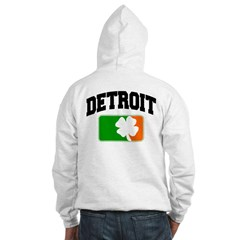 Detroit Shamrock Hooded Sweatshirt