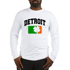 Detroit Shamrock Long Sleeve T-Shirt