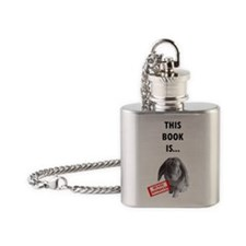 Bunny approved book Flask Necklace