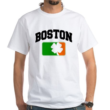 Boston Shamrock White T-Shirt
