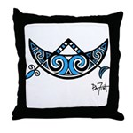 Pictish V-Rod Crescent Throw Pillow