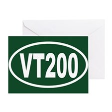 VT200 Euro Oval Sticker Greeting Card