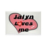 jalyn loves me Rectangle Magnet