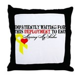 Impatiently Waiting Throw Pillow