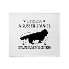 SUSSEX SPANIEL designs Throw Blanket