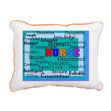 Nurse Blanket blue Rectangular Canvas Pillow