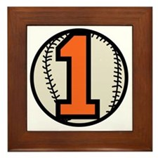 Baseball 1 Framed Tile