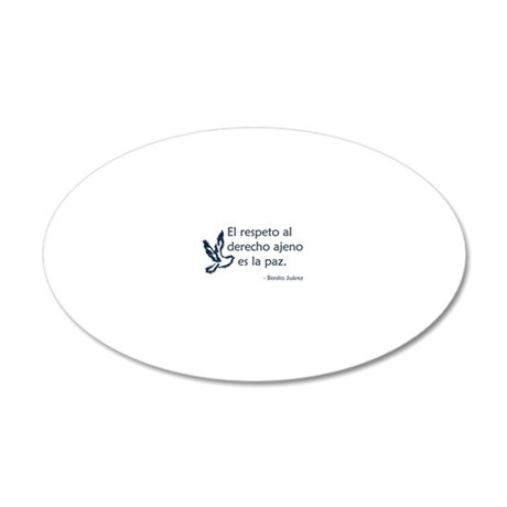 El respeto 20x12 Oval Wall Decal