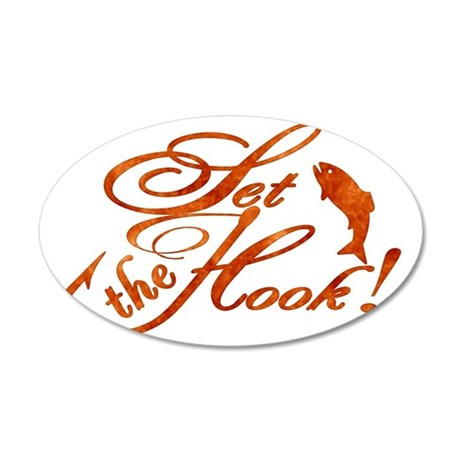 Set the Hook Rust 35x21 Oval Wall Decal