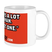 not a man reg Mug