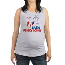 4th of July Little Firecracker Maternity Tank Top