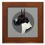 Classic Mantel Great Dane Framed Tile