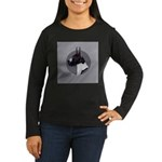 Classic Mantel Great Dane Women's Long Sleeve Dark