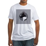 Classic Mantel Great Dane Fitted T-Shirt