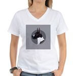 Classic Mantel Great Dane Women's V-Neck T-Shirt
