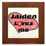 jaiden loves me  Framed Tile