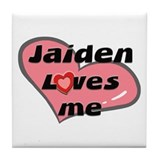 jaiden loves me  Tile Coaster