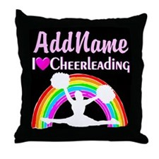 CHEERING QUEEN Throw Pillow