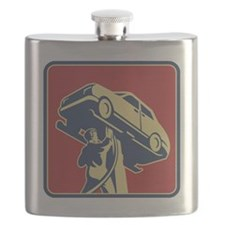 Mechanic Technician Car Repair Retro Flask