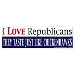 Taste Like Chickenhawks Bumper Sticker