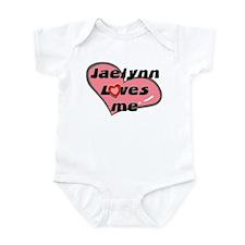 jaelynn loves me  Infant Bodysuit
