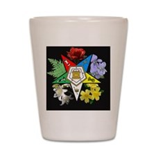 Eastern Star Floral reversed Shot Glass
