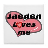 jaeden loves me  Tile Coaster