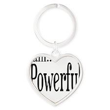 I am Powerful II Timothy 1:7 Heart Keychain