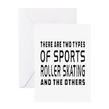 Roller Skating Designs Greeting Card