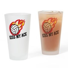 Kiss My Ace Drinking Glass