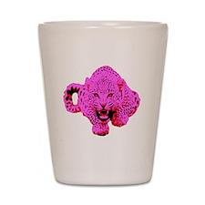 Pink Leopard Shot Glass