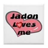 jadon loves me  Tile Coaster