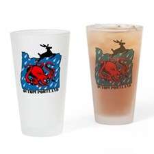 PDX Octopi Drinking Glass