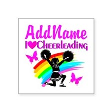 "LOVE CHEERING Square Sticker 3"" x 3"""