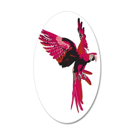 Parrot 35x21 Oval Wall Decal