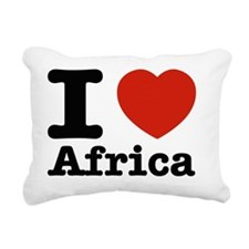 I love Africa Rectangular Canvas Pillow