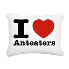 I love Anteaters Rectangular Canvas Pillow