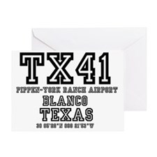 US - TEXAS - AIRFIELD CODES - TX41 - Greeting Card