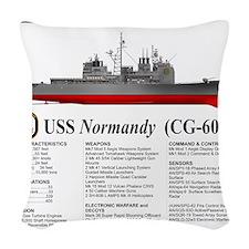USS Normandy CG-60 Woven Throw Pillow