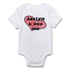 jaclyn loves me  Infant Bodysuit