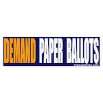 Paper Ballots Bumper Sticker