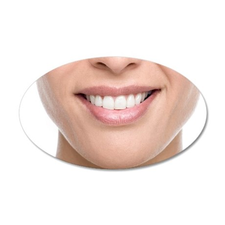 Woman's mouth 35x21 Oval Wall Decal