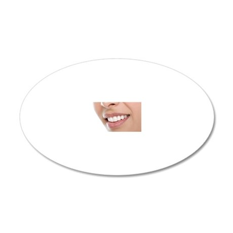 Woman's mouth 20x12 Oval Wall Decal