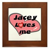 jacey loves me  Framed Tile