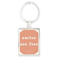 Smiles Are Free Magnet Portrait Keychain