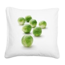 Brussels sprouts Square Canvas Pillow