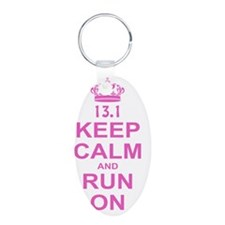 run pink 13.1 Keychains