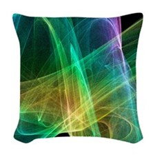 Strange attractor, artwork Woven Throw Pillow
