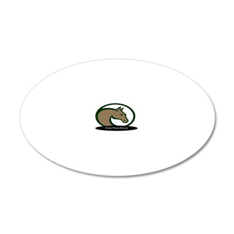 Circle F logo oval hat 20x12 Oval Wall Decal