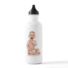 Smiling baby boy Water Bottle